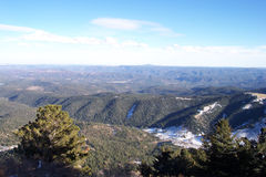 Ruidoso, horizon du Mexique Images libres de droits