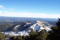 Ruidoso, New Mexico Skyline. The beautiful snow-capped mountains off Ski Apache in Ruidoso, New Mexico Royalty Free Stock Photos