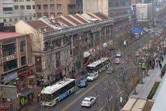 Ruijin droga miksturę kolonialni i nowożytni elementy Szanghaj ` s historia Fotografia Royalty Free