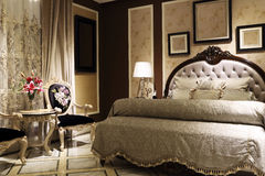 Ruime slaapkamer Royalty-vrije Stock Afbeeldingen