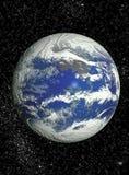 Ruimte achtergrond met planeten en sterren vector illustratie