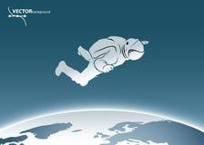 Ruimte astronaut Stock Foto