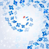Ruimte blauwe achtergrondbannervorm Royalty-vrije Stock Fotografie