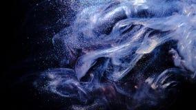 Ruimte de Textuurachtergrond van de Wolkennevel van kosmische melkweg Vloeibare Dynamica die van inkt wordt gemaakt stock footage