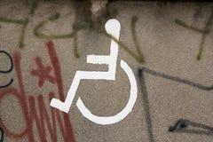 Ruimte die voor gehandicapten wordt gereserveerd Royalty-vrije Stock Afbeelding