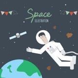 Ruimte en Astronaut Royalty-vrije Stock Fotografie