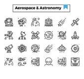 Ruimte en astronomie royalty-vrije illustratie