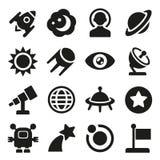Ruimte geplaatste pictogrammen Stock Afbeelding