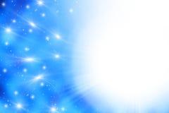 Ruimte gloeiende lichtenachtergrond Stock Foto