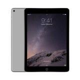 Ruimte Grijze iPadlucht 2 van Apple met iOS 8 met het slotscherm op D Stock Foto