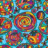 Ruimte het malplaatje naadloos patroon van de cirkeldroom Stock Foto