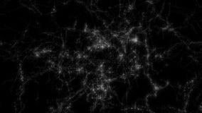 Ruimte 2224: Het vliegen door stergebieden in diepe ruimte stock videobeelden
