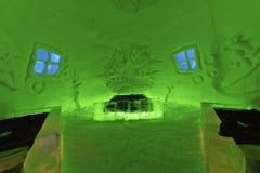 ruimte in ijshotel Royalty-vrije Stock Foto