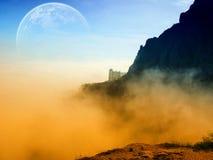 Ruimte landschap Stock Foto