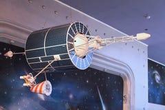 Ruimte orbitale het vliegen module royalty-vrije stock afbeeldingen