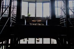 ruimte in oude gevangenis Royalty-vrije Stock Foto