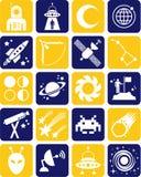Ruimte pictogrammen Royalty-vrije Stock Fotografie
