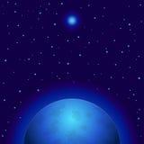 Ruimte, planeet en ster stock illustratie
