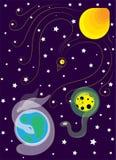 ruimte Planeten in een beeld van dieren Stock Foto