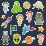 Ruimte stickers Royalty-vrije Stock Afbeeldingen