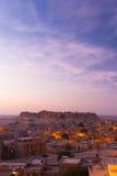 Ruimte V van het Exemplaar van de Ochtend van de Zonsopgang van het Fort van Jaisalmer Royalty-vrije Stock Fotografie