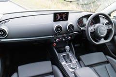 Ruimte van de de Sedan 2014 de Modelaandrijving van Audi S3 Stock Foto