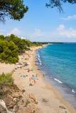 Ruimte van het de hemelexemplaar van strandmiami Playa de blauwe Royalty-vrije Stock Afbeeldingen