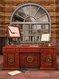 Ruimte van het fantasie de uitstekende bureau Royalty-vrije Stock Fotografie