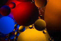 Ruimte of van het planetenheelal kosmische abstracte achtergrond Abstracte moleculesctructure Macro van lucht of molecule wordt g Royalty-vrije Stock Foto