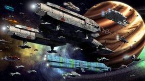 Ruimte vloot stock illustratie