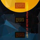 Ruimteachtergrond van de Absract de veelhoekige geometrische ster Stock Foto's