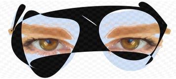 Ruimtebril op een wit Stock Foto's