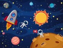 Ruimteelement op ruimteachtergrond stock illustratie