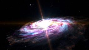 Ruimteexploratie - Melkwegmelkweg Kosmos 3D illustratie royalty-vrije illustratie