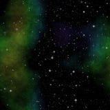 Ruimteillustratie met sterren en nevel Royalty-vrije Stock Afbeeldingen