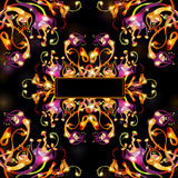 Ruimtekleuren abstracte achtergrond Royalty-vrije Stock Fotografie