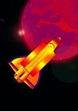 Ruimtependel in actie vector illustratie