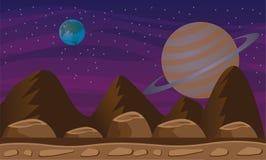 Ruimteplaneetachtergrond Stock Foto