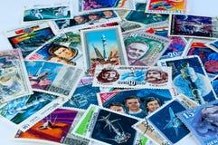Ruimtepostzegels Stock Afbeeldingen