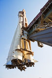 Ruimteschip Vostok klaar voor ruimteodyssee Stock Afbeeldingen