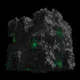 Ruimteschipkubus met zwarte Stock Afbeelding