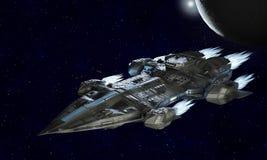 Ruimteschipvliegtuigen voor science fiction het 3d teruggeven van vreemd kuuroord stock illustratie