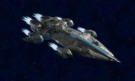 Ruimteschipvliegtuigen voor science fiction het 3d teruggeven van vreemd ruimtevaartuig stock illustratie