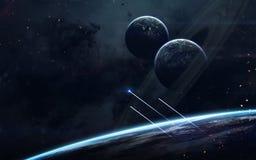 Ruimtescience fictionbeeld Dit die beeldelementen door NASA worden geleverd royalty-vrije stock foto