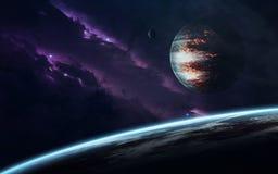 Ruimtescience fictionbeeld Dit die beeldelementen door NASA worden geleverd royalty-vrije stock afbeeldingen