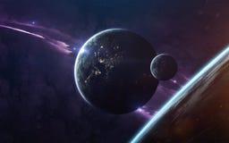Ruimtescience fictionbeeld Dit die beeldelementen door NASA worden geleverd royalty-vrije stock fotografie