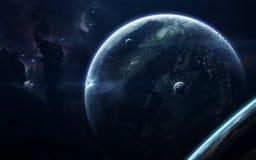 Ruimtescience fictionbeeld Dit die beeldelementen door NASA worden geleverd royalty-vrije stock foto's
