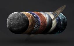 Ruimtescience fictionbeeld Dit die beeldelementen door NASA worden geleverd royalty-vrije stock afbeelding