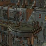 Ruimtestation stock illustratie
