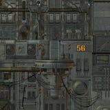 Ruimtestation royalty-vrije illustratie